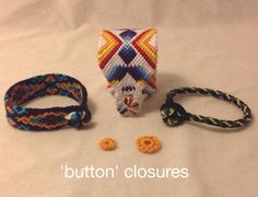 Tutorial - friendship-bracelets.net (( Closures )) Things you can do with a larkshead-knot circle . . .