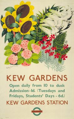 <Poster by Betty Swanwick>  Pictures of flowers and some clear information might work for you too.