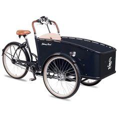Rower Transportowy Johnny Loco Dutch Delight. Łatwość prowadzenia i zwrotność połączona z bezpieczeństwem Twoim oraz dziecka. http://damelo.pl/rowery-miejskie-transportowe/422-rower-transportowy-johnny-loco-dutch-delight.html