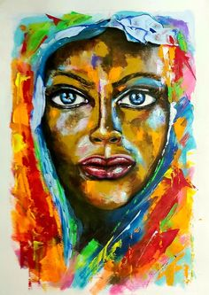 Acrylic on A2 African, Artist, Painting, Art Production, Artists, Painting Art, Paintings, Painted Canvas, Drawings