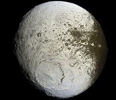 Saturn's moon, Iapetus - by the robotic Cassini spacecraft