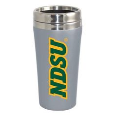 North Dakota State University Bison Double Walled Travel Tumbler, Silver