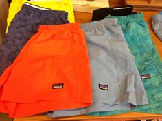 Patagonia Shorts are my faaavorite ❤ I have the purple swirl ones and the light blue ones I LOVE THEM SO MUCH