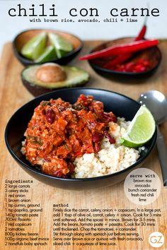 GET ZOMT!: BOX FRESH RECIPE: chilli con carne