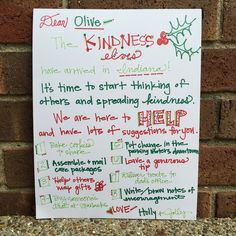 We are starting a new tradition at our house this year... THE KINDNESS ELVES I saw this idea of kindness elves a few weeks ago a...