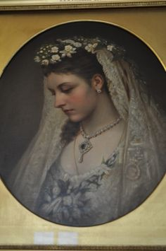 Queen Victoria's daughter, Princess Louise in her wedding dress, Kensington Palace.