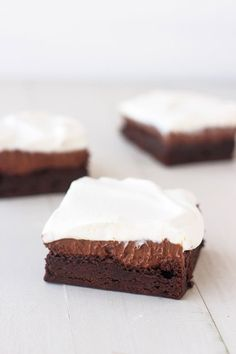 Chocolate Cream Pie Brownies are a chocolate lover's dream! From Handletheheat.com