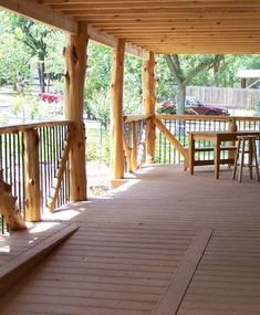 Native Cedar Post Porch with composite decking & a living roof …, – Rustic House Porch With Ramp, Front Porch Deck, Front Porch Addition, Front Porch Columns, Porch Roof, Front Porches, Cabin Decks, Cabin Porches, Decks And Porches