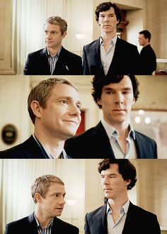 I can't wait till Martin & Ben are back together again for Sherlock Season 3! | Sherlock | @professionalblunder.tumblr.com