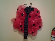 Deco Mesh Lady Bug by AdoorableMesh on Etsy, $25.00