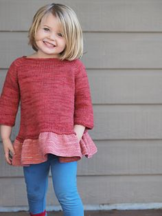 Ravelry: Tutu Top pattern by Lisa Chemery Crochet Jumper Pattern, Jumper Patterns, Baby Knitting Patterns, Top Pattern, Knitting Ideas, Knit Baby Dress, Knitted Baby Clothes, Gilet Rose, Kids Dress Clothes