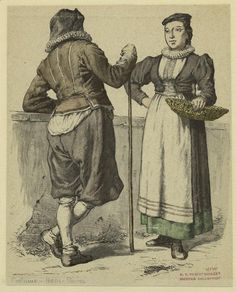 Peasants, Switzerland, 17th century Original Source: Costumes of all nations: 123 plates, containing over 1500 coloured costume pictures by the first Munich artists. Grevel, 1913