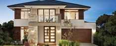 Facade photo of Vaucluse home design by Carlisle Homes Modern Exterior House Designs, Modern House Facades, Dream House Exterior, Dream House Plans, New Home Designs, Modern House Plans, Modern House Design, Exterior Design, Modern Architecture