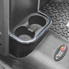 Rear Cup Holder Accent, Chrome; 07-10 Jeep Wrangler JK - Crawltech Offroad