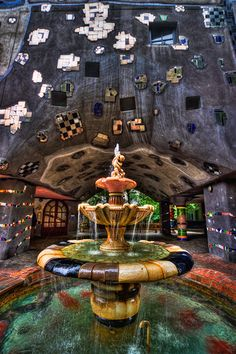 Visited Vienna today, so i took many photos :). This is the fountain in front of the Hundertwasserhaus which is a really beautiful building. Will upload more photos of it later. HDR from three shots, taken with Canon 450D with Sigma 10-20mm lens.