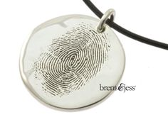 Finger Print Necklace in sterling silver by fabuluster