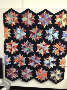 Night sky Quilt made by Andrea. Quilt pattern available at www.creativequiltkits.com.              Save 10% when you enter code PINTEREST10