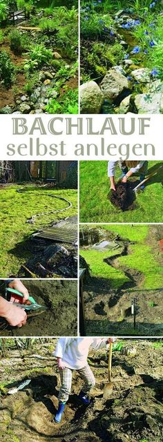 Wassergarten Splashing water in your own garden – you can have that. You can create a stream with a spring yourself. We'll show you how to do the creek properly so you can enjoy it for a long time. Garden Pool, Balcony Garden, Water Garden, Herb Garden, Garden Landscaping, Vegetable Garden, Diy Garden Projects, Garden Styles, Permaculture