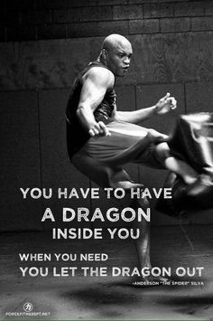 I'd say more like you havce to let the tiger out..the dragon keeps the tiger in check