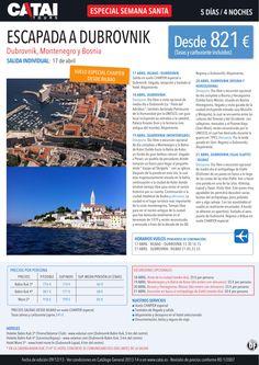 Semana Santa: Escapada a DUBROVNIK, vuelo especial chárter dsd Bilbao, sal indiv 17ab, 5d/4n dsd 821 ultimo minuto - http://zocotours.com/semana-santa-escapada-a-dubrovnik-vuelo-especial-charter-dsd-bilbao-sal-indiv-17ab-5d4n-dsd-821-ultimo-minuto/
