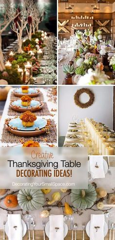 Not Your Mother's Thanksgiving Table! • Creative Thanksgiving table decorating Ideas!