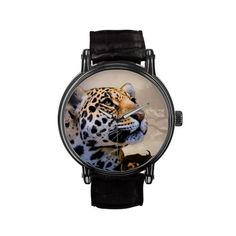 Leopard Art 1 Watch & Numeral Options