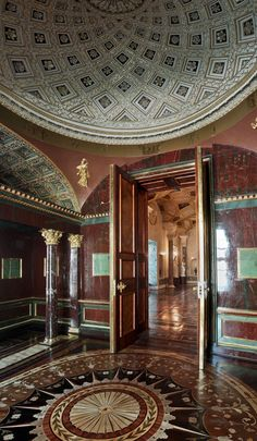 The Agate Rooms of the Cold Bath pavilion in the Catherine Park re-open for visiting after restoration. Jasper Cabinet shown. Exterior Design, Interior And Exterior, Russian Architecture, Spring Resort, Imperial Russia, Grand Palais, Fortification, Lake Superior, Neoclassical