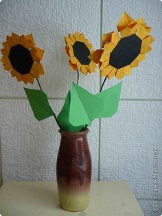 Origami Master Class: Papel Flor Solar.  Foto 1