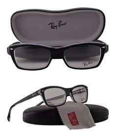 284ee9cc7ae4 $99.99 - Ray Ban RX5255 Eyeglasses 51-16-135 Black on Transparent 2034 RX