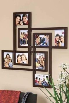 25 Best DIY Picture Frame Ideas [Beautiful, Unique, and Cool] - Zimmergestaltung - Pictures on Wall ideas Diy Photo, Cadre Photo Diy, Collage Mural, Collage Frames, Canvas Collage, Do It Yourself Decoration, Picture Frame Sets, Photo Frame Ideas, Frames Ideas