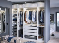 Walk In Closet Organizer Ikea Incredible Astonishing by no means go out of types. Walk In Closet Organizer Ikea Incredible As Ikea Closet Organizer, Closet Storage, Closet Organization, Organization Ideas, Master Bedroom Closet, Bedroom Wardrobe, Gray Bedroom, Fitted Wardrobe Interiors, Wardrobe Wall