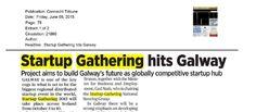 "Galway: Connacht Tribune- ""Startup Gathering hits Galway"""