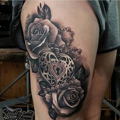 Artist: Location: X Post your work now just click the link on my bio. Dope Tattoos, Badass Tattoos, Body Art Tattoos, Sleeve Tattoos, Tatoos, Heart Lock Tattoo, Music Heart Tattoo, Filigree Tattoo, Lace Tattoo