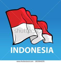 Vector abstract, Bendera merah putih, Indonesian flag