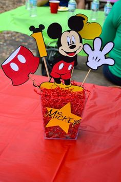 Mickey Mouse clubhouse birthday centerpiece