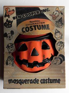 vintage Ben Cooper Halloween costume jack o'lantern in box