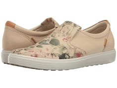 Two hot spring trends in one shoe!  ECCO Soft VII floral slip-on |  1000s of comfortable women's shoes reviewed at www.BarkingDogShoes.com