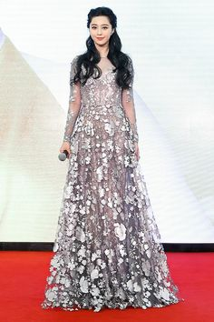 Fan Bingbing looks incredible wearing Ralph & Russo to the 2016 Royal Caribbean International Cruise Line Sailing Ceremony, Shanghai.
