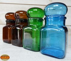 Vintage ... Pots en verre ARIEL et DASH ... sur www.mulubrok.fr ...