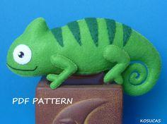 Patrón de costura de PDF para hacer un fieltro camaleón por Kosucas