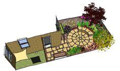 overall plan Small Courtyard Garden East London