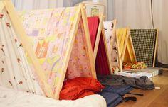 Zelt bauen für Übernachtungsparty