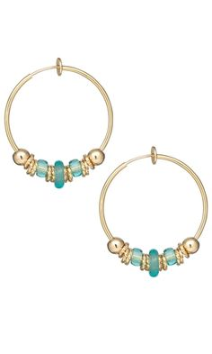 Earrings with Gold-Plated Beads and Jumprings and Czech Pressed Glass Beads
