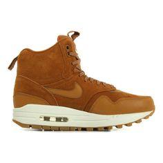 Nike Air Max 1 Mid Bruin - Schoenen Hoge sneakers Dames € 99,99