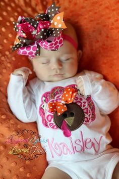 Leopard and Paisley Turkey. So cute for a newborn around Thanksgiving!