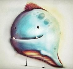 Illustration by Simon J Lee #monster