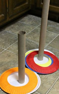 Make your own ring toss game! Make your own ring toss game! The post Make your own ring toss game! appeared first on Pink Unicorn. Indoor Activities For Kids, Toddler Activities, Crafts For Kids, Indoor Games, Fun Crafts, Circus Crafts, Children Crafts, Craft Kids, Indoor Recreational Activities