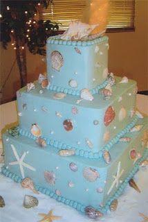 海がテーマのウェディングケーキ
