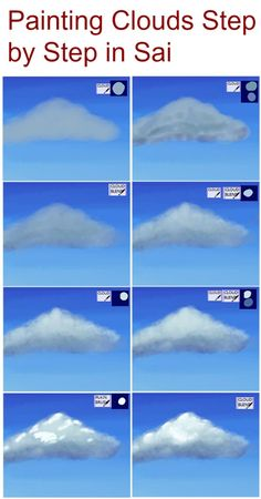 Painting Clouds Step by Step