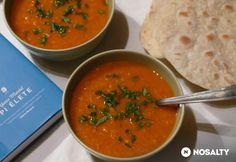 Paradicsomos vöröslencse-krémleves Naan, Soups And Stews, Thai Red Curry, Ethnic Recipes, Food, Essen, Meals, Yemek, Eten